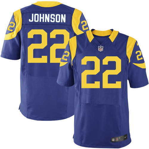 Nike Men's Los Angeles Rams #22 Trumaine Johnson Royal Blue Alternate Stitched NFL Elite Jersey