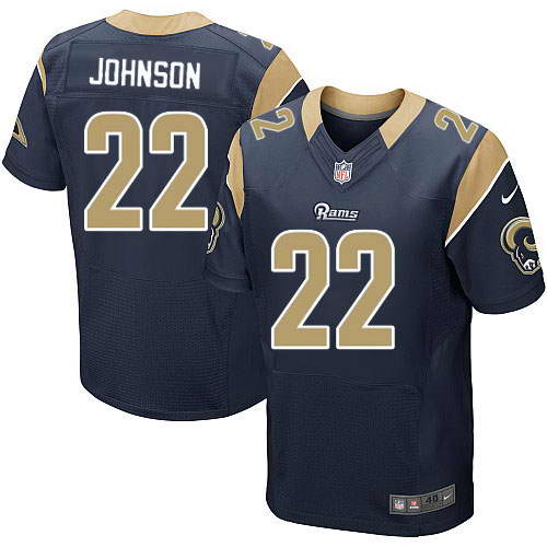 Nike Men's Los Angeles Rams #22 Trumaine Johnson Navy Blue Alternate Stitched NFL Elite Jersey