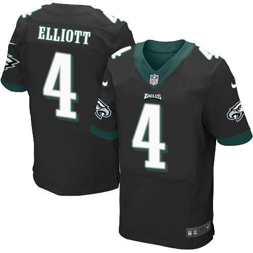 Nike Men's Philadelphia Eagles #4 Jake Elliott Midnight Black Stitched NFL New Elite Jersey