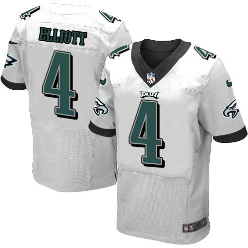 Nike Men's Philadelphia Eagles #4 Jake Elliott White Stitched NFL New Elite Jersey