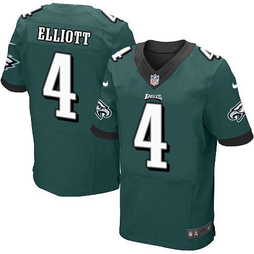 Nike Men's Philadelphia Eagles #4 Jake Elliott Midnight Green Team Color Stitched NFL New Elite Jersey