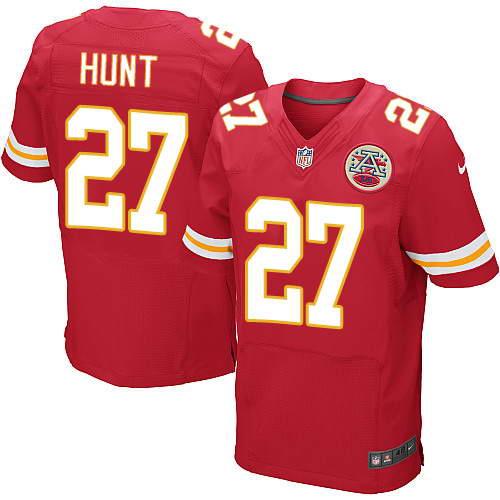 Nike Men's Kansas City Chiefs #27 Kareem Hunt Red Team Color Stitched NFL Elite Jersey