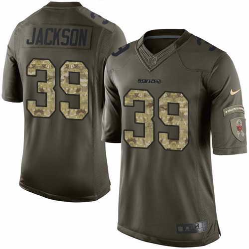 Nike Chicago Bears Men's #39 Eddie Jackson Elite Stitched Green Salute to Service NFL Jersey