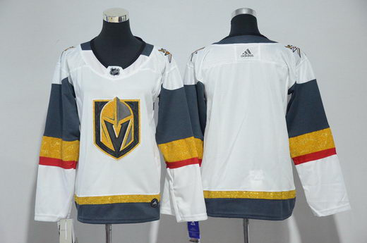 Youth Adidas Vegas Golden Knights Blank White Jersey