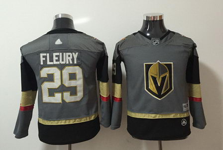 Youth Adidas Vegas Golden Knights 29 Marc Andre Fleury Gray Jersey