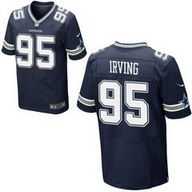 Dallas Cowboys #95 David Irving Home Navy Men's Stitched Nike Elite Jersey