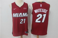 Men's Heat 21 Hassan Whiteside Red Nike Authentic Jersey