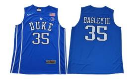 Duke Blue Devils 35 Marvin Bagley III Blue College Basketball Jersey