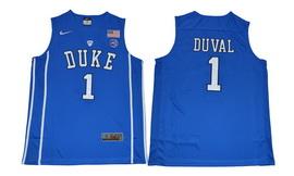 Duke Blue Devils 1 Trevon Duval Blue College Basketball Jersey