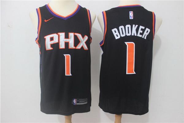 Suns 1 Devin Booker Black Nike Swingman Jersey