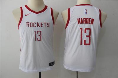 Rockets 13 James Harden White Youth Nike Swingman Jersey