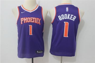 Suns 1 Devin Booker Purple Youth Nike Swingman Jersey