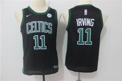 Celtics 11 Kyrie Irving Black Youth Nike Swingman Jersey