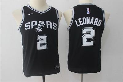 Spurs 2 Kawhi Leonard Black Youth Nike Swingman Jersey