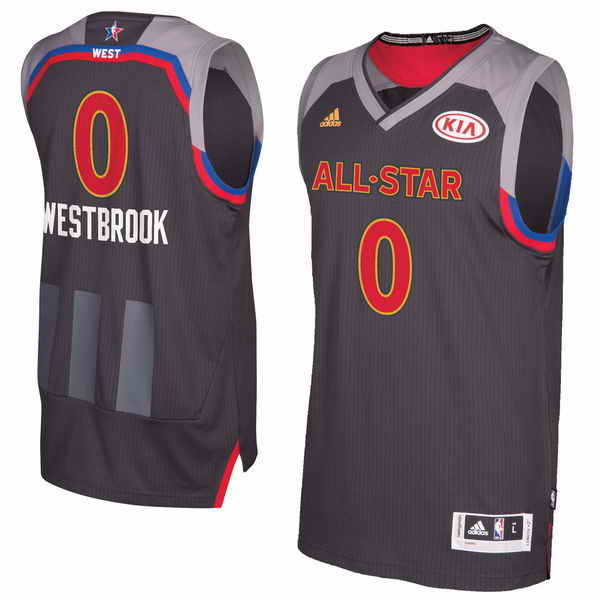 #0 Russell Westbrook adidas Charcoal 2017 NBA All-Star Game Replica Jersey