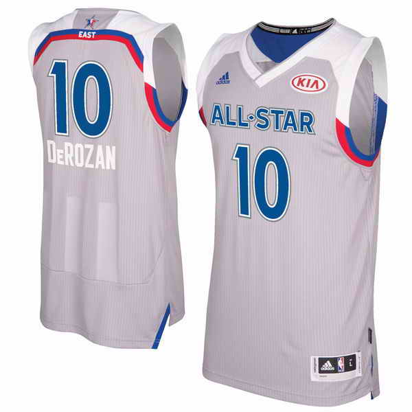 Men's Eastern Conference #10 DeMar DeRozan adidas Gray 2017 NBA All-Star Game Swingman Jersey
