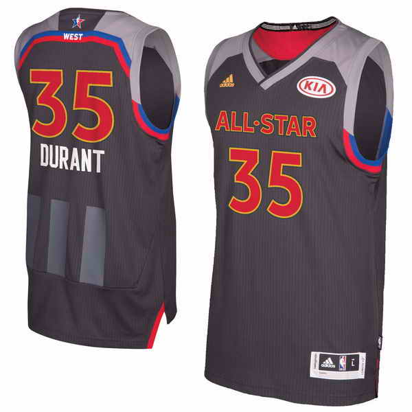 #35 Kevin Durant adidas Charcoal 2017 NBA All-Star Game Replica Jersey