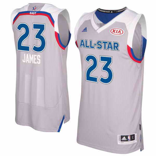 Men's Eastern Conference #23 Lebron James adidas Gray 2017 NBA All-Star Game Swingman Jersey