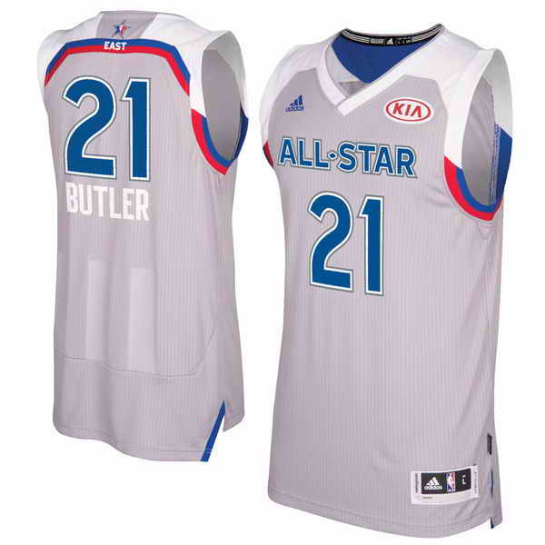 Men's Eastern Conference Jimmy Butler adidas Gray 2017 NBA All-Star Game Swingman Jersey