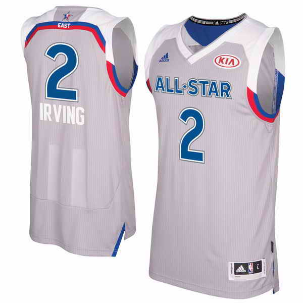 Men's Eastern Conference #2 Kyrie Irving adidas Gray 2017 NBA All-Star Game Swingman Jersey