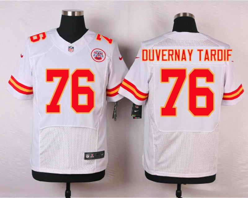 Nike Kansas City Chiefs #76 Laurent Duvernay-Tardif White Stitched Elite Jersey