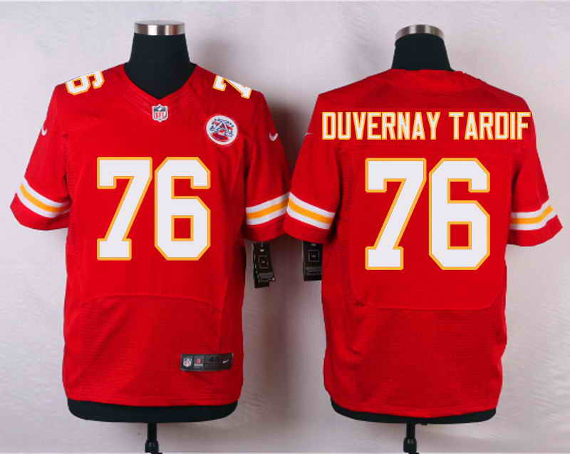 Nike Kansas City Chiefs #76 Laurent Duvernay-Tardif Red Stitched Elite Jersey