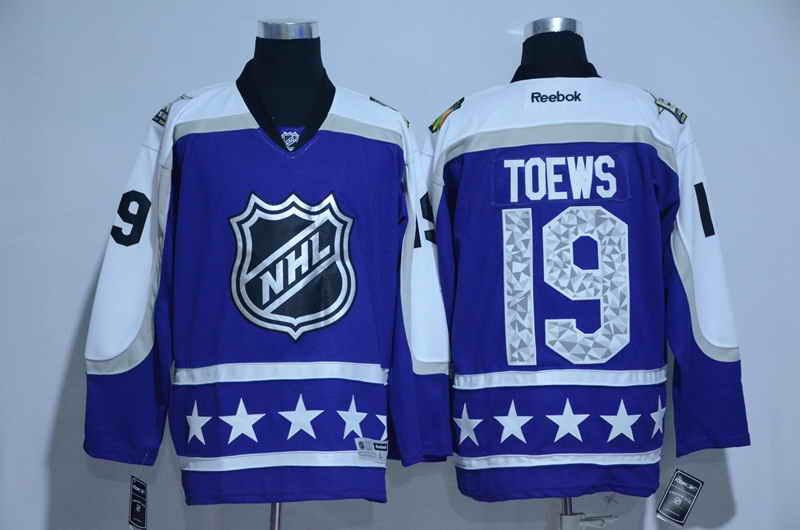 Men's Chicago Blackhawks #19 Jonathan Toews Blue 2017 All Star NHL Jersey
