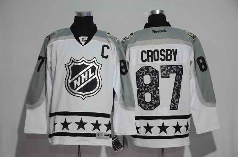 Men's Pittsburgh Penguins #87 Sidney Crosby White 2017 All Star NHL Jersey