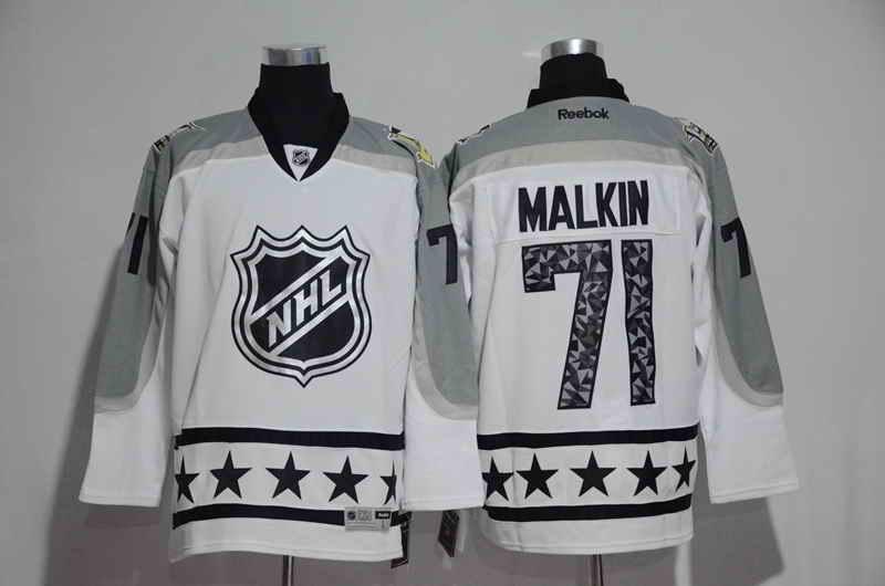 Men's Pittsburgh Penguins #71 Evgeni Malkin White 2017 All Star NHL Jersey