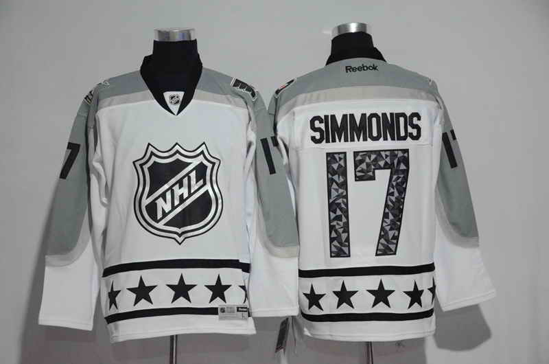 Men's Philadelphia Flyers #17 Wayne Simmonds White 2017 All Star Jersey