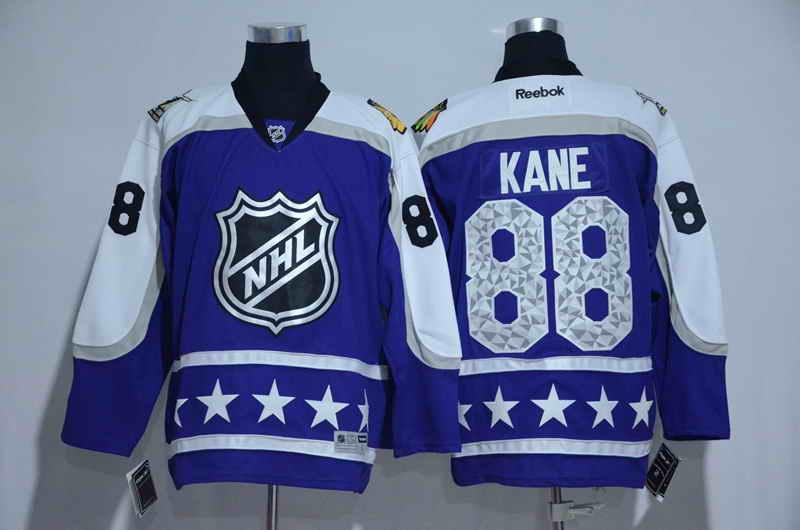 Men's Chicago Blackhawks #88 Patrick Kane Blue 2017 All Star NHL Jersey