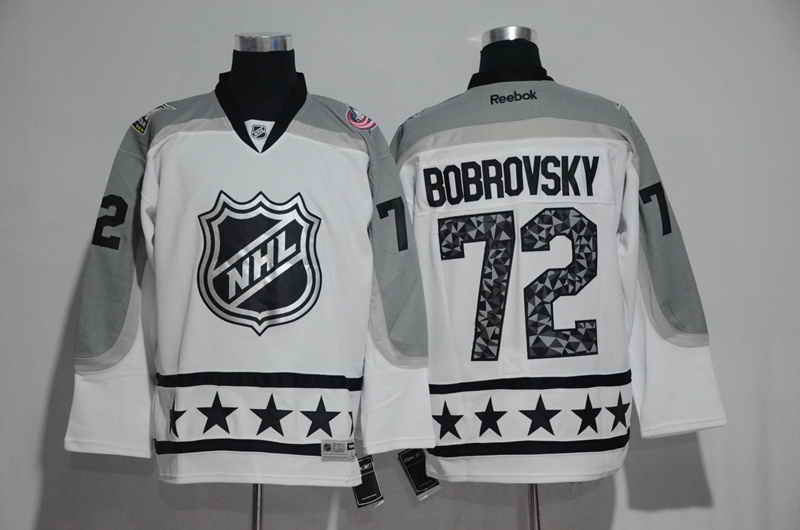 Men's Columbus Blue Jackets #72 Sergei Bobrovsky White 2017 All Star NHL Jersey