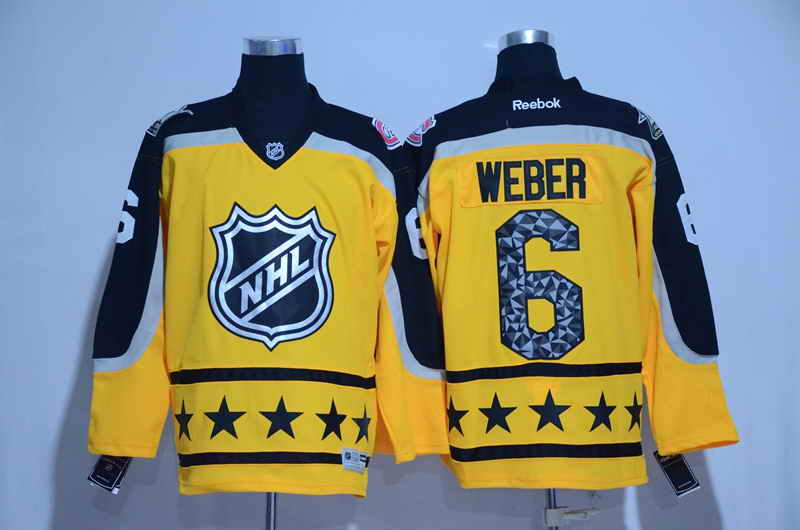 Men's Montreal Canadiens #6 Shea Weber Yellow 2017 All Star NHL Jersey
