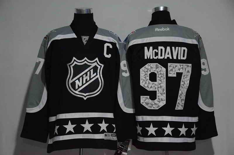 Men's Edmonton Oilers #97 Connor McDavid Black  2017 All Star Jersey