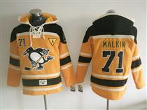 Penguins 71 Evgeni Malkin Orange All Stitched Hoody Sweatshirt