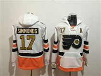 Flyers #17 Wayne Simmonds White All Stitched Hoody Sweatshirt