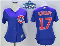 Cubs-17-Kris-Bryant-Royal-2016-World-Series-Champions-Women-New-Cool-Base-Jersey