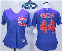 Cubs-44-Anthony-Rizzo-Royal-2016-World-Series-Champions-Women-New-Cool-Base-Jersey