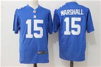 Nike New York Giants #15 Brandon Marshall Blue Game Stitched Jersey