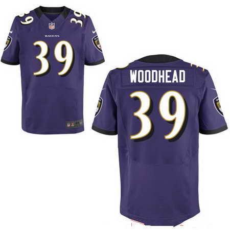 Men's Baltimore Ravens #39 Danny Woodhead Purple NFL Nike Stitched Elite Jersey