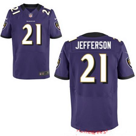 Men's Baltimore Ravens #21 Tony Jefferson Purple NFL Nike Stitched Elite Jersey