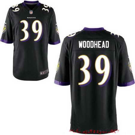 Men's Baltimore Ravens #39 Danny Woodhead Black NFL Nike Stitched Elite Jersey