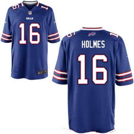 Men's Buffalo Bills #16 Andre Holmes Royal Blue Team Color NFL Nike Stitched Elite Jersey