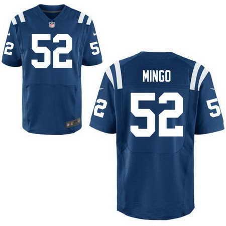 Men's Indianapolis Colts #52 Barkevious Mingo Royal Blue Team Color Nike NFL Stitched Elite Jersey