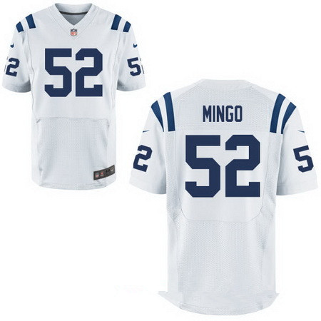 Men's Indianapolis Colts #52 Barkevious Mingo White Nike NFL Stitched Elite Jersey
