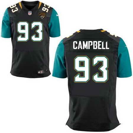 Men's Jacksonville Jaguars #93 Calais Campbell Black Nike NFL Stitched Elite Jersey