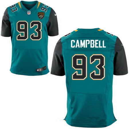 Men's Jacksonville Jaguars #93 Calais Campbell Teal Green Team Color Nike NFL Stitched Elite Jersey