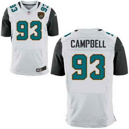 Men's Jacksonville Jaguars #93 Calais Campbell White Nike NFL Stitched Elite Jersey