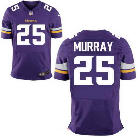Men's Minnesota Vikings #25 Latavius Murray Purple Team Color Nike NFL Stitched Elite Jersey