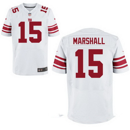Men's New York Giants #15 Brandon Marshall White Nike Stitched Elite Jersey